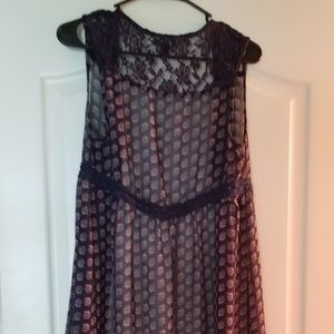 Sheer laced coverup